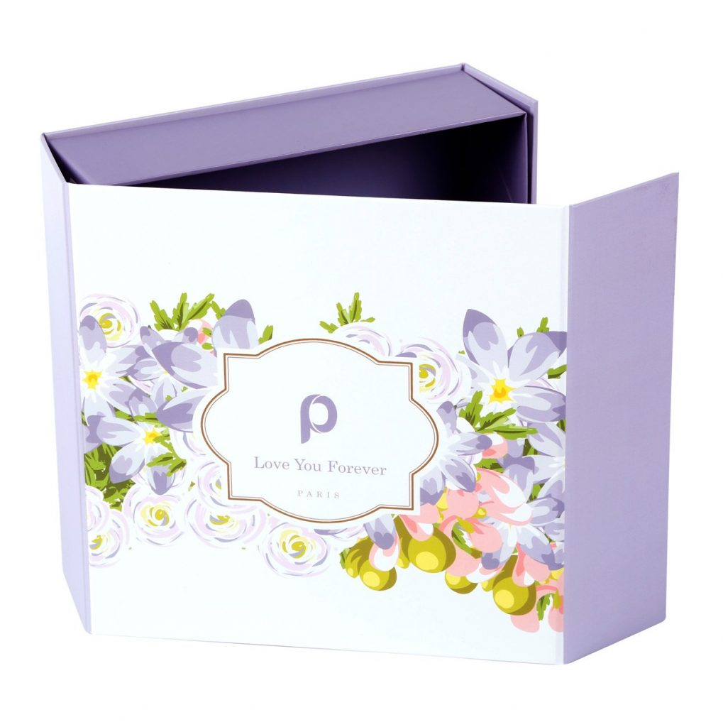 Custom Collapsible Gift Boxes Floral 03