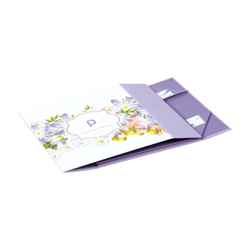 Custom Collapsible Gift Boxes Floral 04
