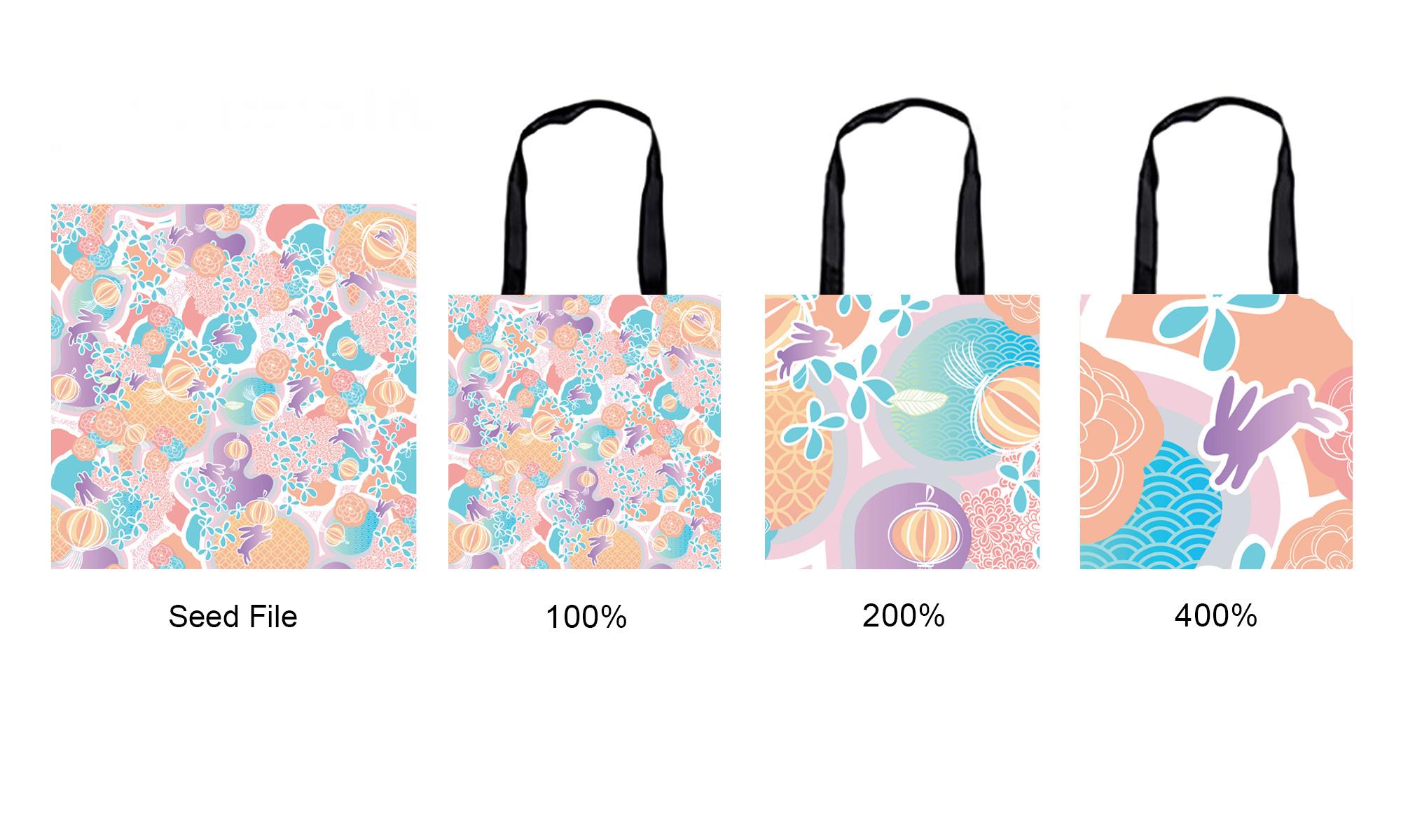 Mosaics Pattern paper shopping bag customprintbox