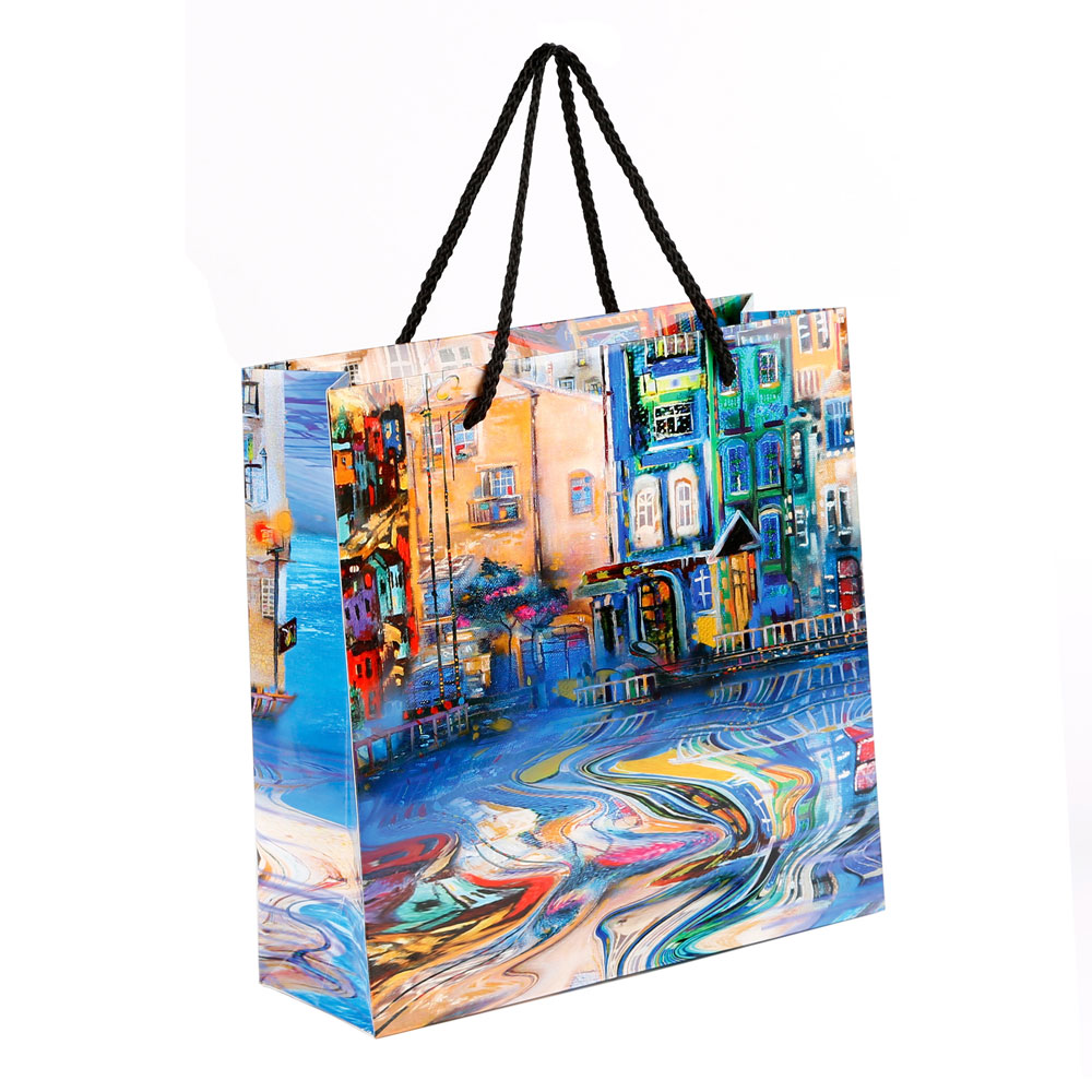 Matte Gloss Laminated Custom Retail Paper Shopping Bags 05