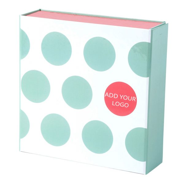 Custom Collapsible Gift Boxes Dots Logo 02