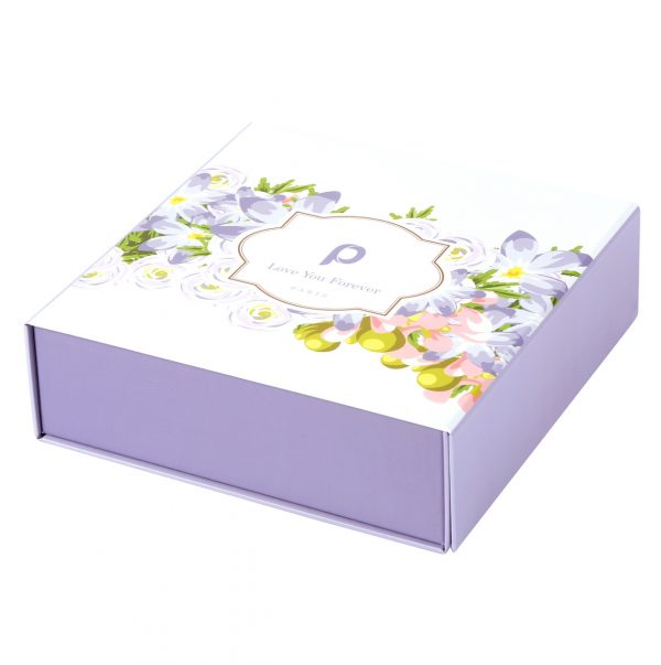 Custom Collapsible Gift Boxes Floral 01
